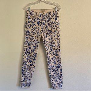 Current Elliott x DVF floral skinny jeans size 28